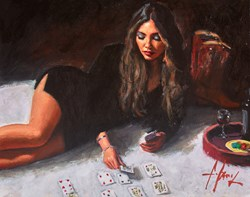 Solitaire II by Fabian Perez - Original Painting on Stretched Canvas sized 20x16 inches. Available from Whitewall Galleries